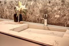Bathroom Stone Benchtop and splashback